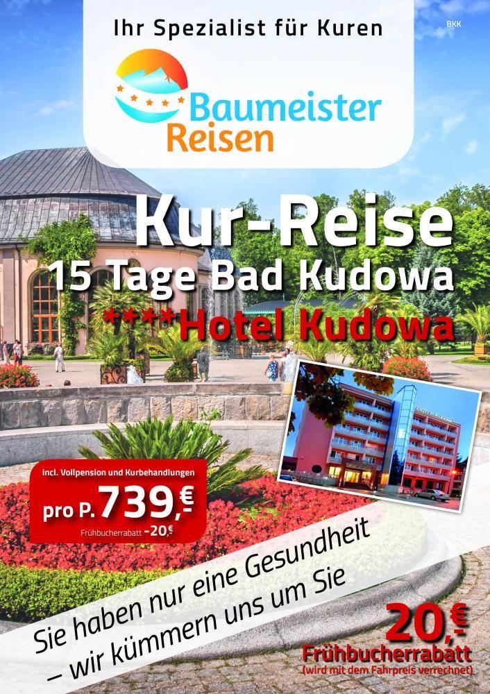 Kurreisen und Busreisen mit Baumeister Reisen in Kalefeld
