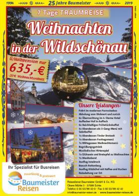 Weihnachten Busreisen 2019.Kurreisen Und Busreisen Mit Baumeister Reisen In Kalefeld